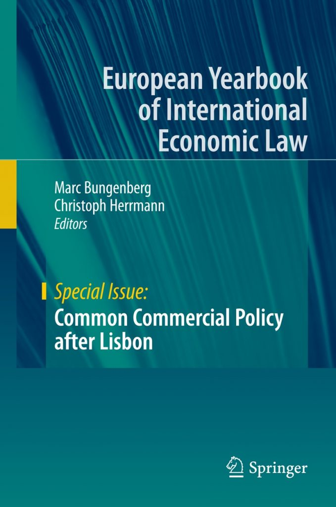European Yearbook of International Economic Law 2012