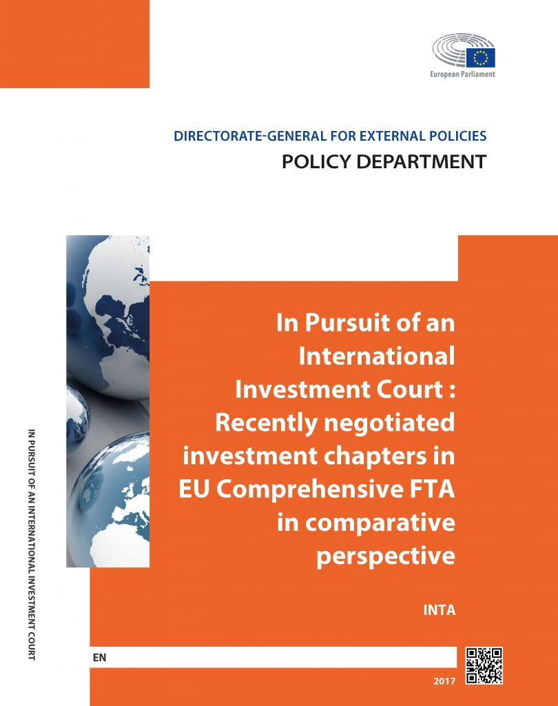 In Pursuit of an International Investment Court. Recently Negotiated Investment Chapters in EU Comprehensive Free Trade Agreements in Comparative Perspective