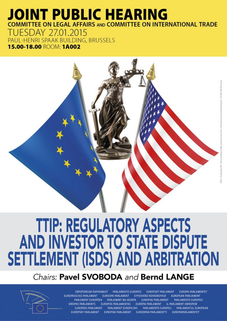 TTIP Hearing European Parliament
