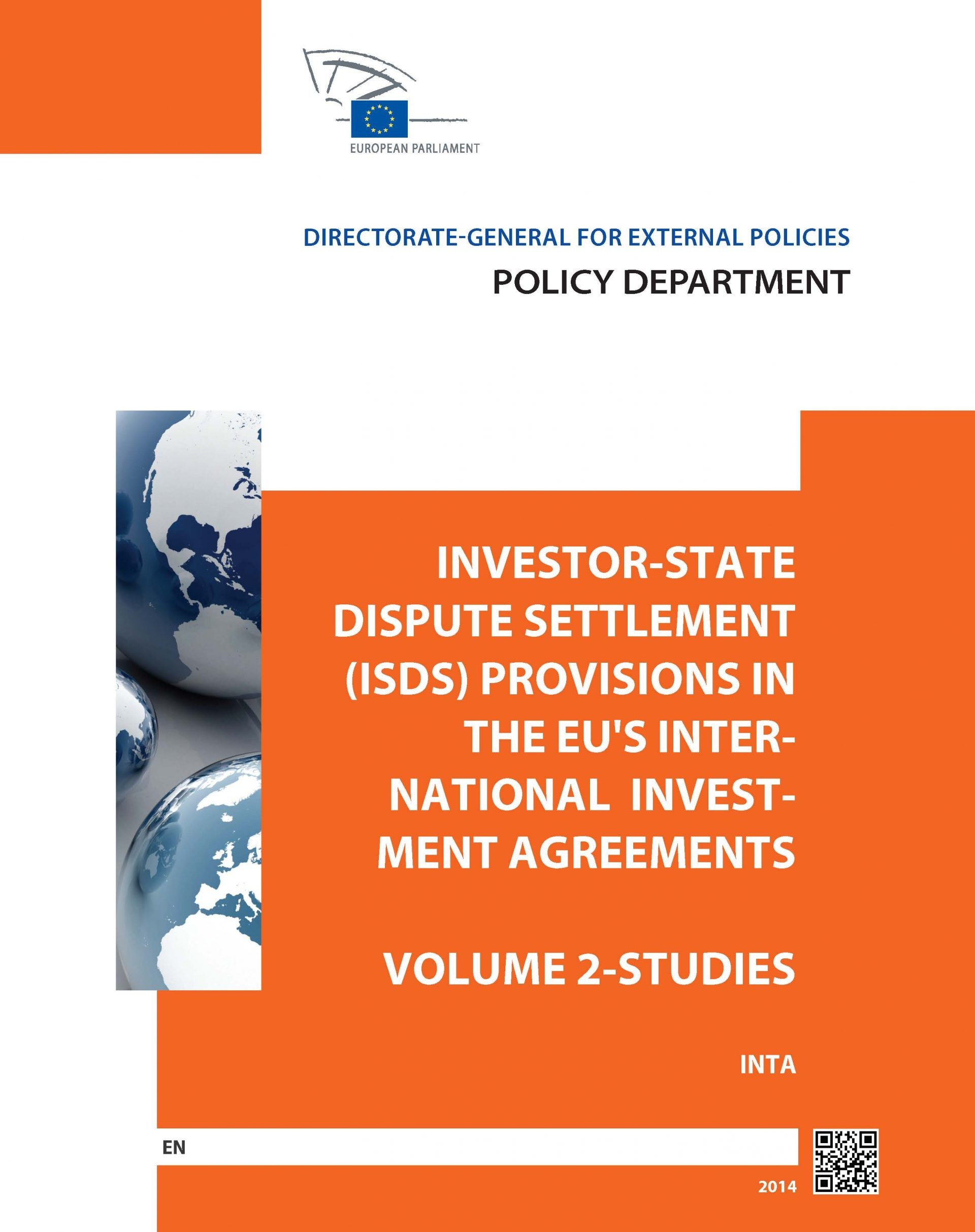 Study on Investor-State Dispute Settlement ('ISDS') and Alternatives of Dispute Resolution in International Investment Law