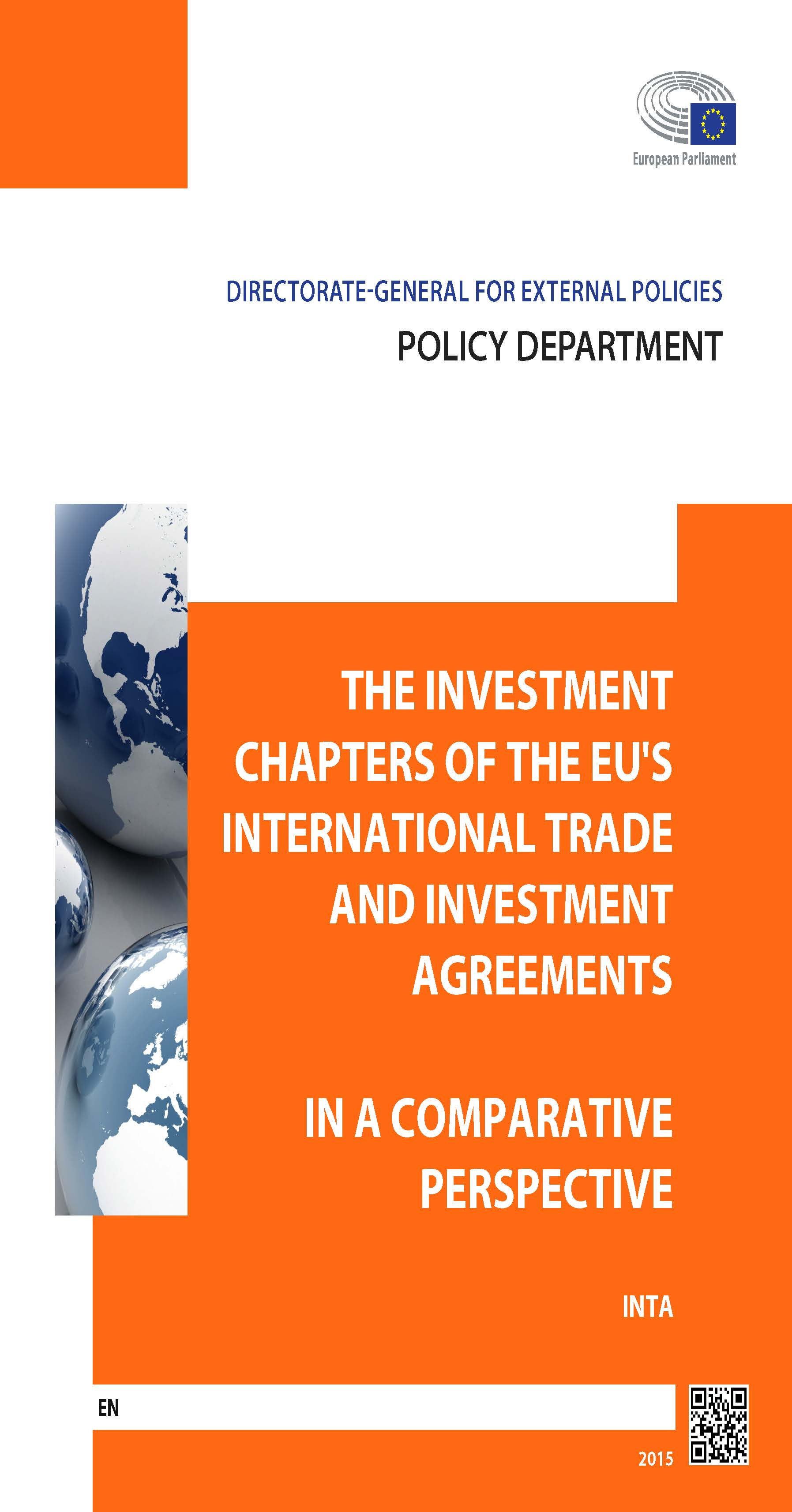 The Investment Chapters of the EU's International Trade and Investment Agreements in a Comparative Perspective