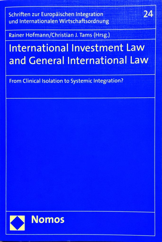 Restitution and Compensation – Reconstructing the Relationship in International Investment Law