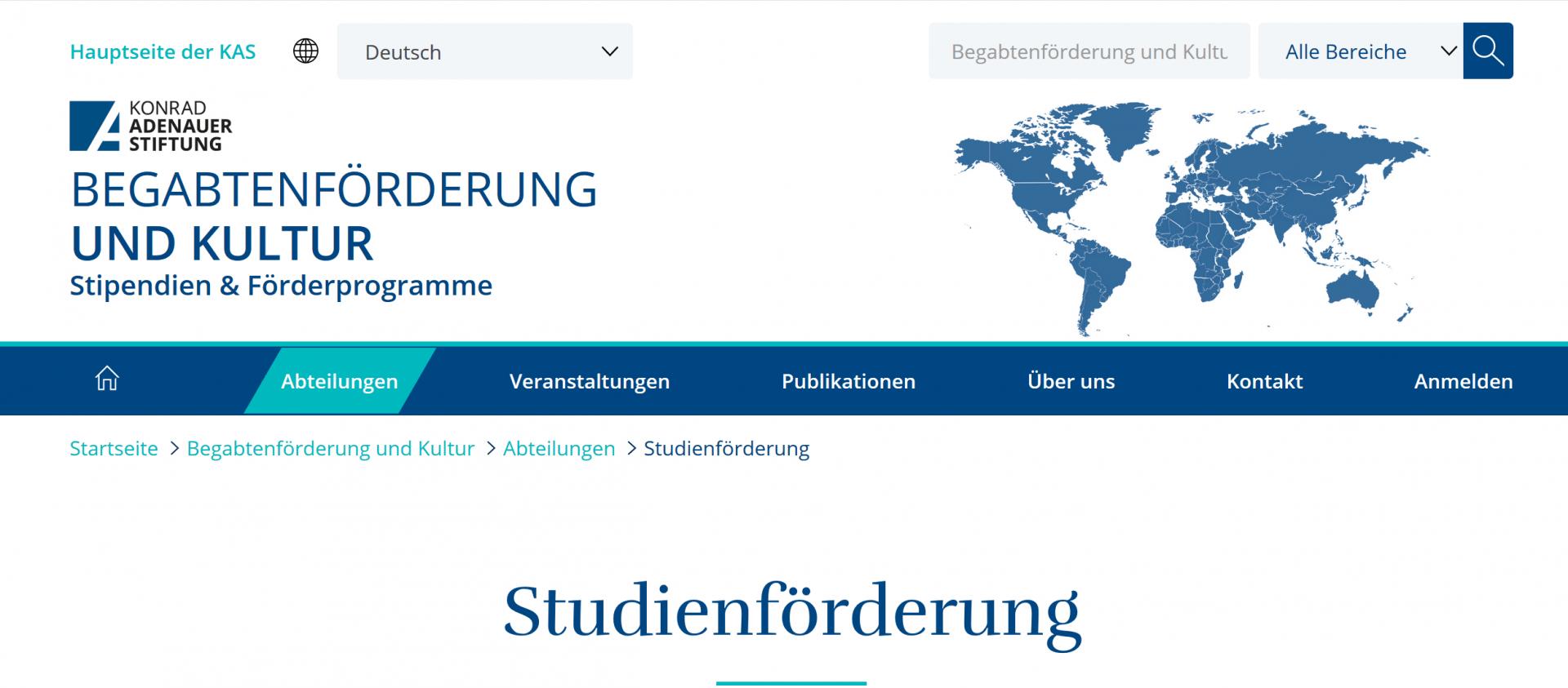 Professorial mentor for Konrad-Adenauer-Foundation scholarship holders studying in Denmark
