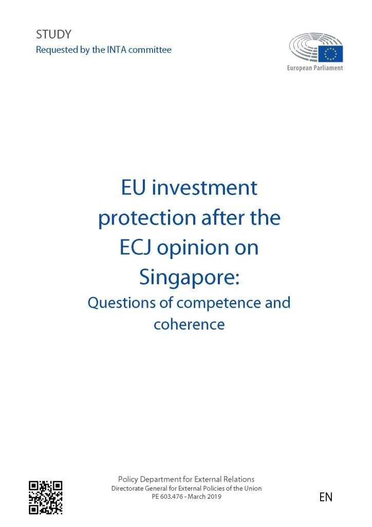 Stocktaking of investment protection provisions in EU agreements and Member States' bilateral investment treaties and their impact on the coherence of EU policy